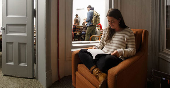 Reading in Creative Writing's new home