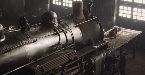 Railyard in Chicago, 1942