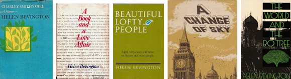 Covers of some of Helen Smith Bevington's books