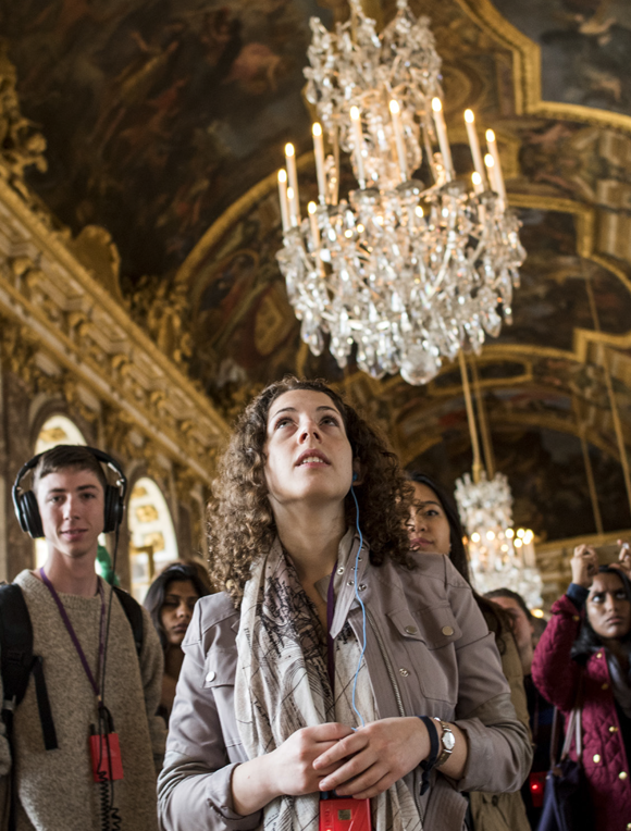 Students in the Hall of Mirrors