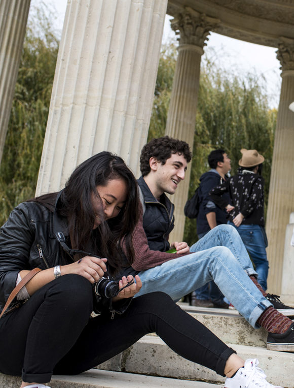 Students in the Temple of Love